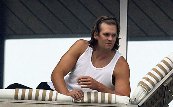 tom brady ponytail pictures. Tom Brady is dancing in Brazil