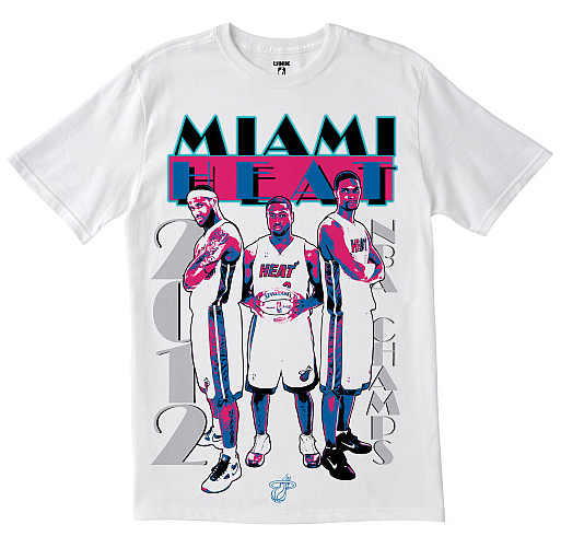 huge selection of 08c95 3c629 The Miami Heat Present The Greatest Championship T-Shirt Of ...