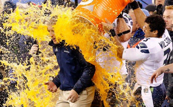 Super Bowl XLVIII Denver Broncos against the Seattle Seahawks